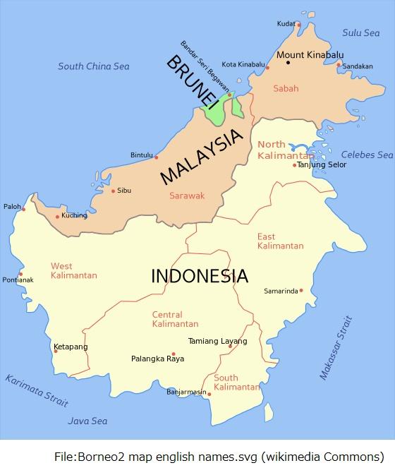ボルネオ島全図